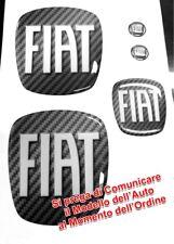 KIT STEMMI FIAT 500-PUNTO-BRAVO  ADESIVO 3D RESINATO TUNING CARBONIO CARBON LOOK