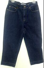 Womens SZ 8 Stretch Cropped Denim Jeans, Jones Sport Dark Wash, Mint