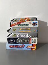 5 Kompakt Reise Spiele ( MB Parker Hasbro ) Backgammon, abalone, cluedo, doktor