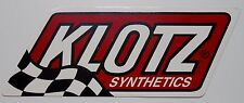 KLOTZ SYNTHETICS OIL STICKER DECAL R/C MOTORCYCLE ATV MARINE SNOWMOBILE IMPORT A
