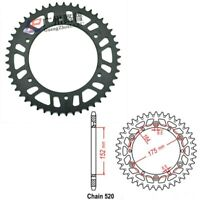 520 50T 51T 52T rear sprocket For Yamaha YZ100 WR250 YZ125 YZ250 490 WR500 TT250