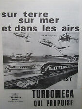 1/1970 PUB TURBOMECA FOUGA CT-20 ALOUETTE 2 NAVIPLANE AEROTRAIN TURBOTRAIN AD