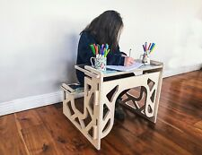 Junior Kids Computer Desk PC Table Laptop Writing Home Schooling Workstation