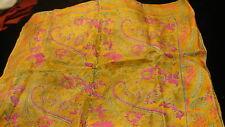 "Indian silk scarf kerchief 21"" square S139"