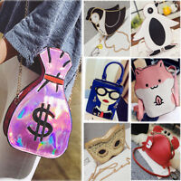 Womens Cute Pouch Purse Cartoon Shoulder Bag Backpack Student Cross Body Handbag
