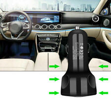 1x 3-Port Car Usb Charger Adapter Led Display Qc 3.0 Fast Charging Accessories (Fits: Charger)