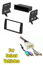02-06 Toyota Camry Stereo Radio Install Mount Dash Trim Kit+JBL Amp Wire Harness