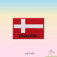 Denmark National Flag Embroidered Iron On Patch Sew On Badge Applique