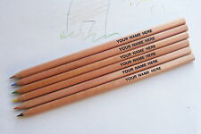 6 Top Quality Colouring Pencils *Personalised* with 1 name or message