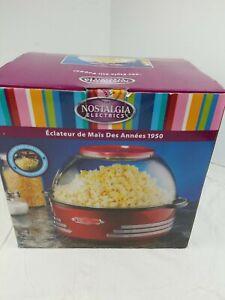 Nostalgia '50s Style Stir Popper 24 Cups Movie Theater Popcorn Retro RED