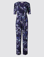 SIZE 22 LONG  PER UNA  FLORAL JUMP SUIT MARKS AND SPENCER