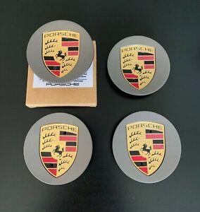 Porsche Colour Crested Wheel Centre Caps, 911, Cayman, Boxster, Cayenne