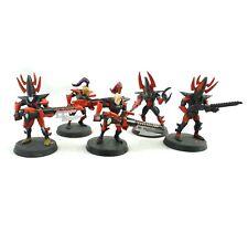 Warhammer 40k Army Dark Eldar OOP Kabalite Warriors x5 Painted Plastic