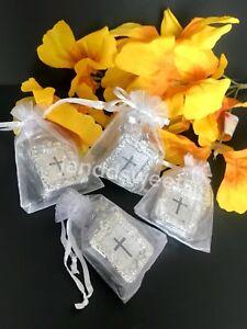 12PC Baptism Mini Bibles Favors Keychains W/bags Communion Recuerdos Bautizo