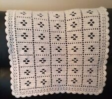 "Best Seller Classic white ""Call the Midwife"" handmade crochet baby blanket"