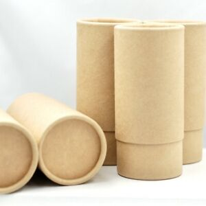 Kraft Cardboard Telescopic Style tubes x 5, Cosmetic Packaging, multi-use