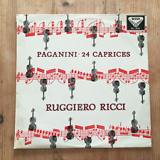 SXL 2194 Decca NB Paganini 24 Caprices Ruggiero Ricci Near Mint
