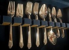 International Rogers Silverplate 1941 PRECIOUS grille set for 8 + soup spoons