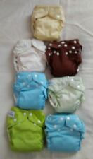 7 Fuzzibunz Lot-Cloth Reusable Washable Baby Pul Diapers-Adjustable + Inserts