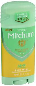Women Mitchum Advanced 48 hr Protection Pure Fresh 2.7 oz