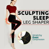 Fashion Women Sculpting Sleeping Leg Shaper Pants Legging Long Socks Body Shaper