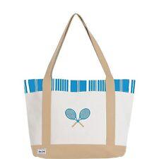 Ame & Lulu Tennis Lovers Tote Ticking Stripe Racket Bag - Authorized Dealer