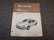 1993 Lexus ES300 Sedan Workshop Shop Service Repair Manual Book Vol1 3.0L V6