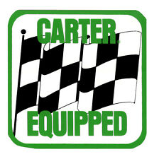 CARTER EQUIPPED DRAG RACE HOT RAT ROD DECAL VINTAGE LOOK STICKER
