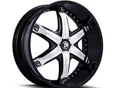 26 Diablo Fury Wheels Black Chrome Rims 315/40/26 Tires 8 lug Fits Hummer H2