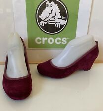 Crocs Lydia Wedge Heel Slip On Shoes Size UK 4 EU 37 in excellent condition
