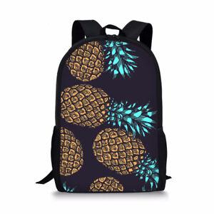 Chic Style Backpack Pineapple Print School Bag Fashion Shoulder Satchel Daypack