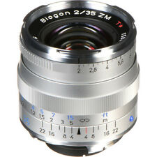 New Carl Zeiss BIOGON T* 35mm f2 ZM Mount Lens  - SILVER -   Made in Japan