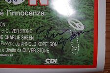 Oliver Stone signed Platoon Poster Boldly signed in person. 27x41 Full Size