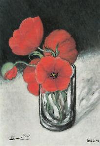 Kunstkarte: Heide Dahl - Roter Mohn