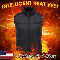 Men Women Electric Heated Vest Rechargeable Heating Motorcycle Ice Coats Boots&