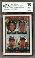 1993 topps inaugural marlins #529 SILVESTRI/CHIPPER JONES/GIL rookie BGS BCCG 10