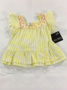 Okie Dokie Infant Baby Girl Yellow Floral Top Sizes 0-3M 6-9M 3-6M