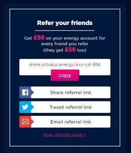 £50 octopus energy credit