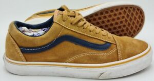 Vans Low Suede Trainers TB4R Mustard Yellow/White/Gum Sole UK7/US8/EU40.5