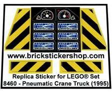 Precut Replica Sticker for LEGO® Technic set 8460 - Pneumatic Crane Truck