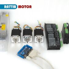 3 Axis Nema23 76mm Stepper Motor 270oz-in &CW5045 Driver 4.5A CNC Controller Kit