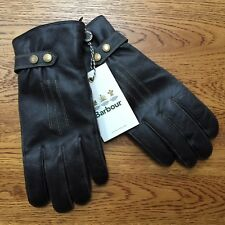 BARBOUR BROWN LEATHER EDEN GLOVES BNWT SIZE LARGE