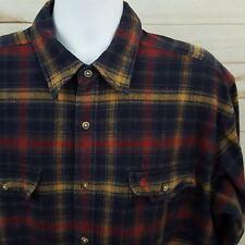 Carhartt Flannel Multicolor Plaids Mens Long Sleeve Button Front Shirt 2XL XXL