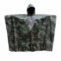Camouflage Raincoat Rain Poncho Raincoat Hunting Fishing Hiking #2