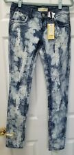 New - Almost Famous Premium Junior Acid Wash Skinny Jeans Size 5 With Tags