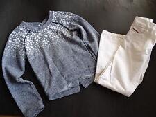 IKKS weltschönster bleu clair melierter Pull Sweatshirt Taille 8 128