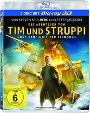 TIM UND STRUPPI: DAS GEHEIMNIS DER EINHORN (Blu-ray 3D+ Blu-ray Disc) NEU+OVP