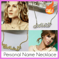 Personal Name Necklace - Personalised Gold / Silver Tone. Script Letter SALE new
