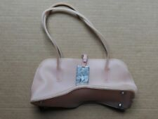 WOMEN'S PINK RUBBERY PLASTIC HANDBAG / TOTE BAG