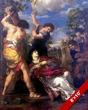 STONING DEATH OF FIRST CHRISTIAN MARTYR SAINT STEPHEN PAINTING ART CANVAS PRINT
